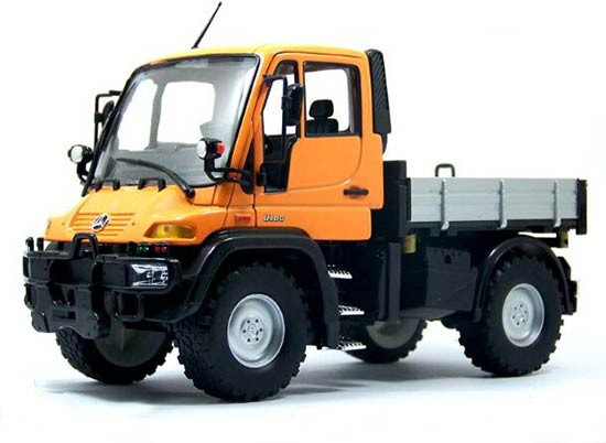 Red / Yellow 1:24 Welly MERCEDES-BENZ Unimog U400 Dump Truck