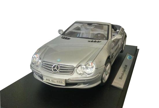 Black 1:18 Welly Diecast MERCEDES-BENZ SL500 Roadster