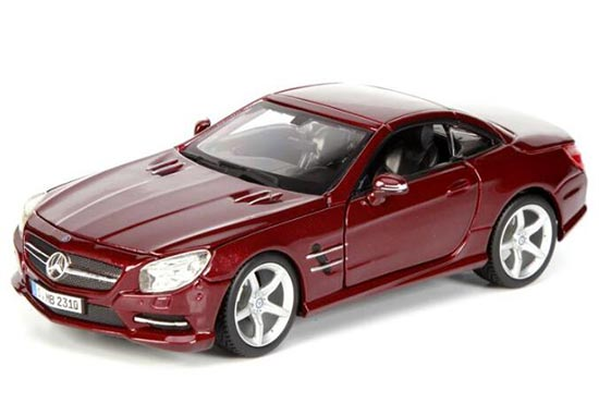 Black / Wine Red 1:24 Scale Bburago MERCEDES-BENZ SL500