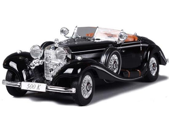 1:18 Scale MaiSto Black / White Diecast MERCEDES-BENZ 500K Model