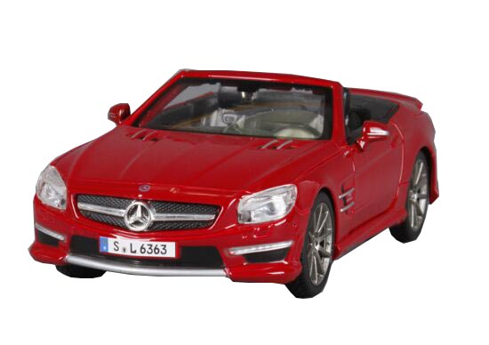 Blue / Red 1:24 Scale MaiSto MERCEDES-BENZ SL63 AMG Model