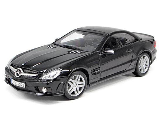 Black 1:18 Scale Maisto Diecast Mercedes-Benz SL65 AMG Model