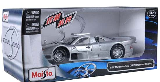 Silver 1 24 Scale Maisto Mercedes Benz Clk Gtr Model