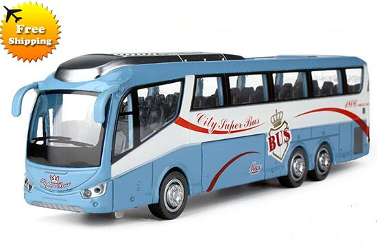 Large Scale Red / Blue / Green / Orange Deluxe Coach Bus Toy