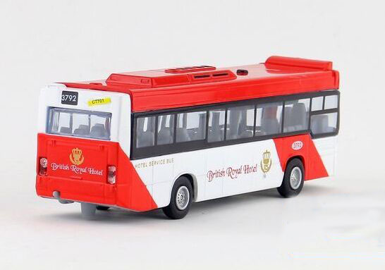 Medium Scale Red / Blue / Yellow Kids City Bus Toy