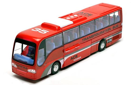 Kids Red / Blue / White Transformers City Bus Toy