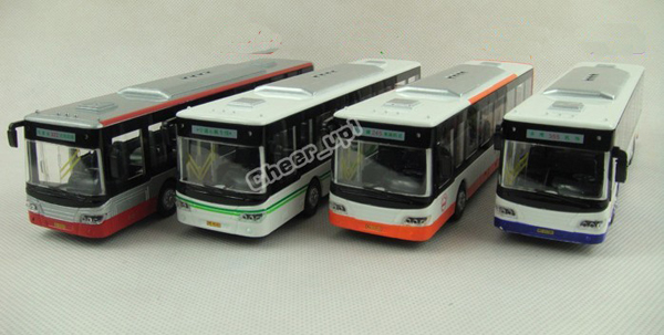 Kids Red / Green / Orange / Purple Asian Games City Bus Toy