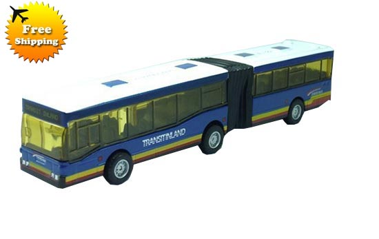 Pull-back Long Sizes Blue / Red / Yellow City Bus Toy