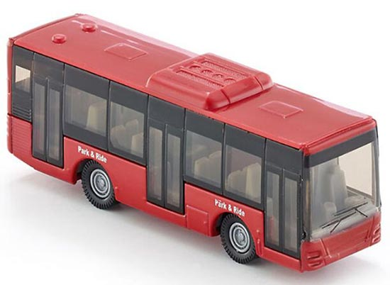 Diecast 1:55 Scale Germany SIKU Red Toy City Bus