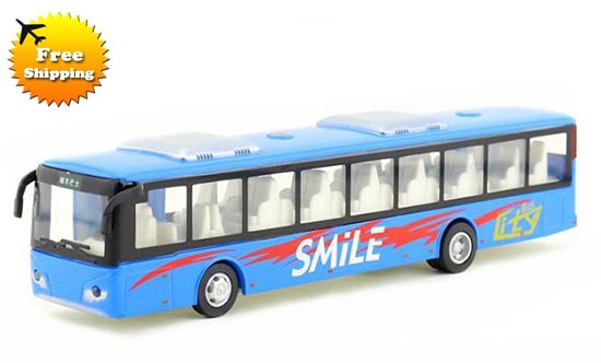 Kids Diecast Red / White / Orange / Blue Toy City Bus