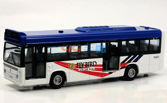 Diecast Kids Red / Yellow Pull-back Function Toy City Bus