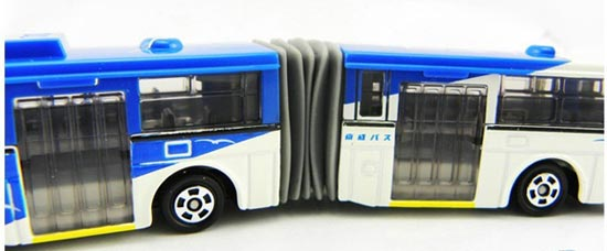 Long Size Diecast TOMICA Brand Blue-White Toy City Bus