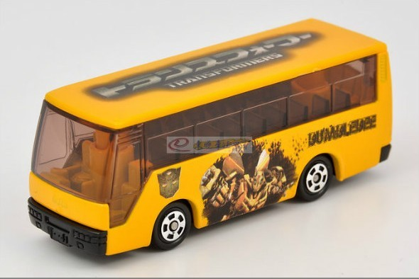 1:145 Mini Scale Yellow Diecast TOMY Transformers City Bus
