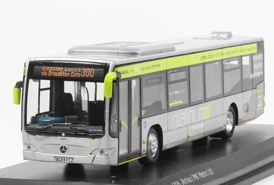 1:76 Gray Diecast Mercedes-Benz Citaro Arriva City Bus Model