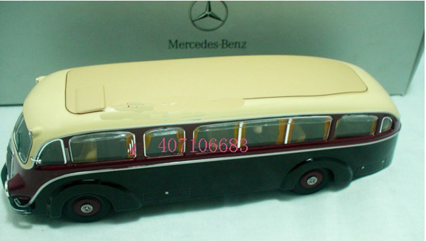 1:43 Scale Brown Diecast Mercedes-Benz LO3500 Bus Model