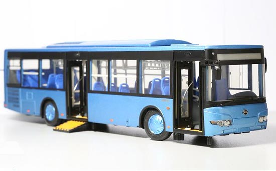 1:43 Scale Sky Blue Chinese City Bus Model