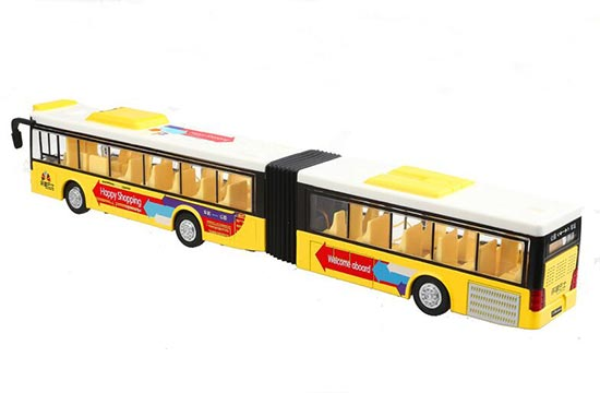 Yellow / Red / White Articulated Design BeiJing City Bus Toy