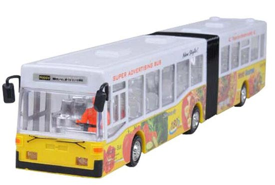 Large Scale Kids Red/ Yellow / Blue Electric Articulated Bus Toy