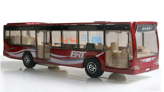 Pull-back Function Kid Red / Blue / Purple / Orange City Bus Toy
