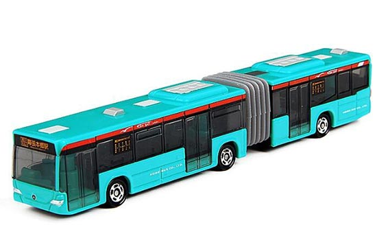 Long Scale Blue TOMY Articulated Design Mercedes-Benz City Bus