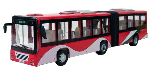 Kids Blue / White / Red / Yellow Articulated City Bus Toy