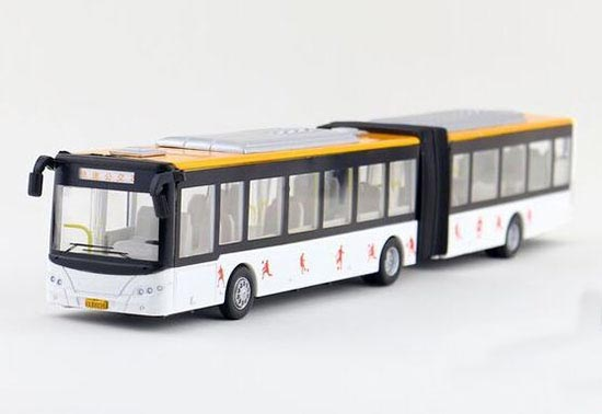 Long Size Kids White / Red / Yellow Articulated BeiJing City Bus
