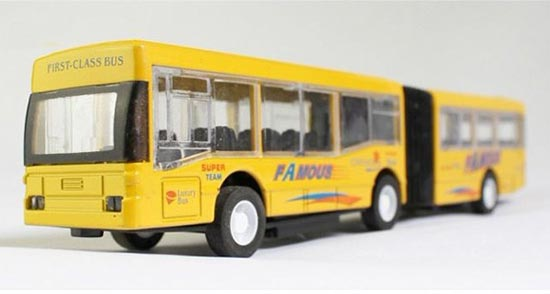 1:50 Scale Blue / Yellow Kids Articulated City Bus Toy