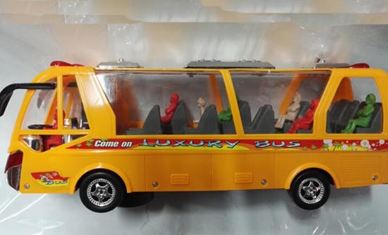Kids Red / Yellow Electric City Bus Toy