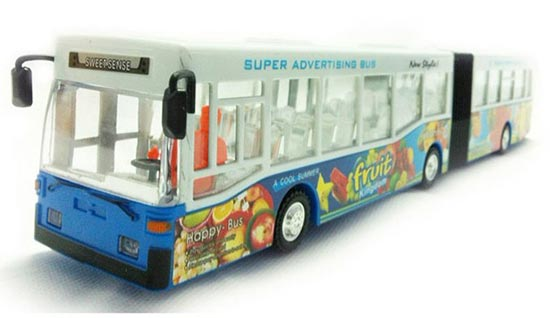 Long Size Plastic White-Blue / White-Yellow Articulated City Bus