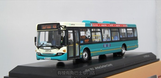 1:76 Scale Blue Scania City Bus Model