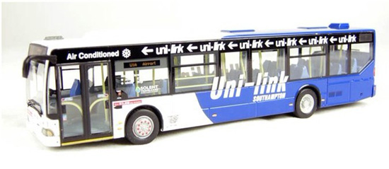 1:76 Scale White-Blue Mercedes Benz Citaro City Bus Model