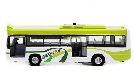 Kids Pull-Back Function Yellow / Green City Bus Toy