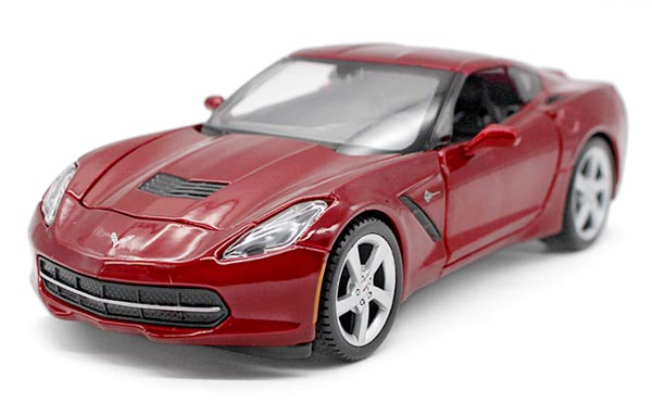 Blue / Red 1:24 Scale Maisto Diecast Chevrolet Corvette Stingray