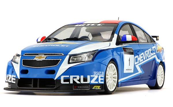 Blue 1:18 Scale 2011 WTCC Diecast Chevrolet Cruze Model