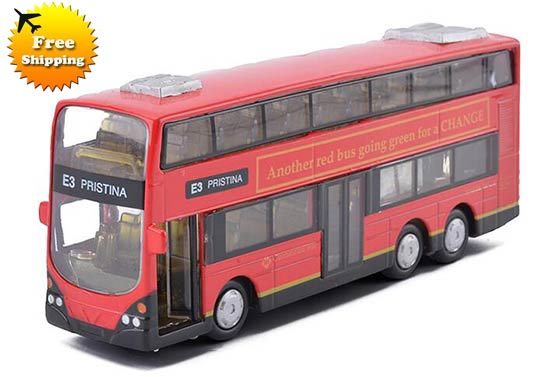 Three Colors Available Alloy Double Decker London Bus Toys