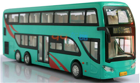 Alloy White / Yellow / Red / Green Kid BeiJing Double Decker Bus