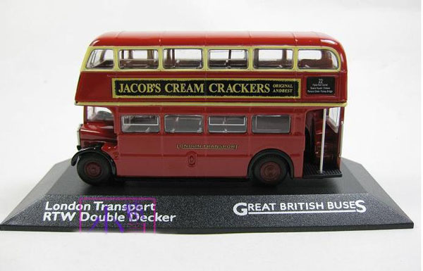 1:76 Scale Red Alloy and Plastic London Double Decker Tour Bus