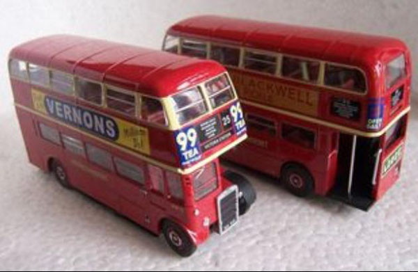 1:72 Scale Red Alloy NO.99 RTW75 Double Decker London Bus