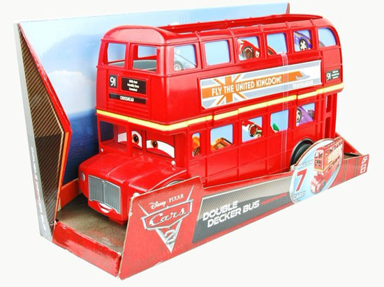 Mattel V3616 Red Plastic Double Decker Bus Toys