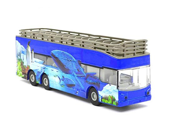 1:32 Scale Wathet / Blue-White Alloy Double Decker Tour Bus