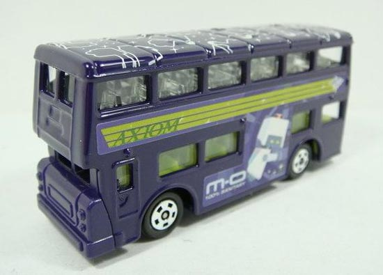 Mini 1:130 Scale TOMY NO.95 WALL-E Die-cast Double Decker Bus