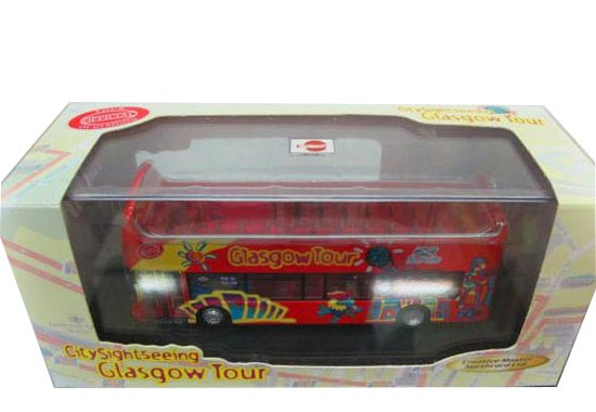 Creative Master Northcord 1:76 Scale Red Double Decker Tour Bus