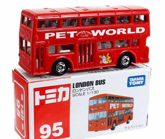 1:130 Scale TOMY NO.95 Red Die-cast Double Decker London Bus Toy