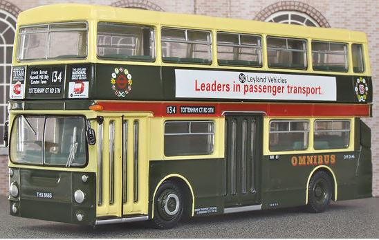 1:76 Scale Yellow Alloy Double Decker London Bus