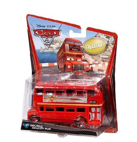 Red Mattel Alloy Made Double Decker Bus Toys Model