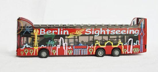 Germany Siku 1:87 Scale Red Alloy Double Decker Tour Bus
