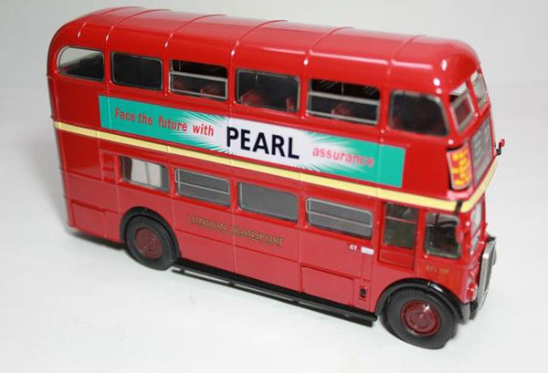 1:50 Scale Red Fashionable Transport Double Decker London Bus