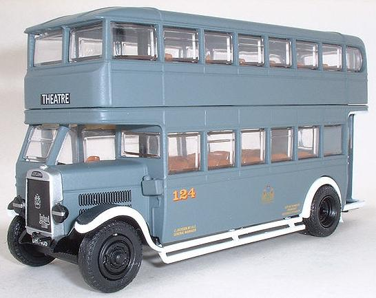 Kids 1:76 Scale Alloy Made Double Decker Bus Model