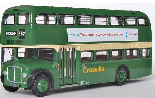 1:76 Scale Green London Double Decker Bus Toy