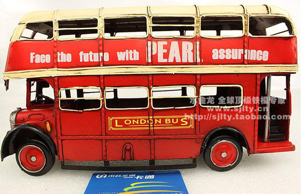 Retro Style 1:12 Scale Classical Red Double Decker London Bus